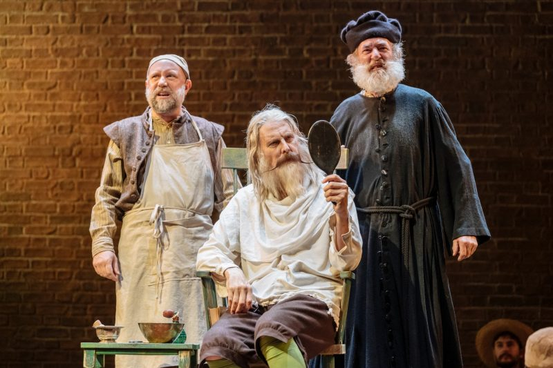 Timothy Speyer David Threlfall and Nicholas Lumley in Don Quixote. London . Photography by Manuel Harlan