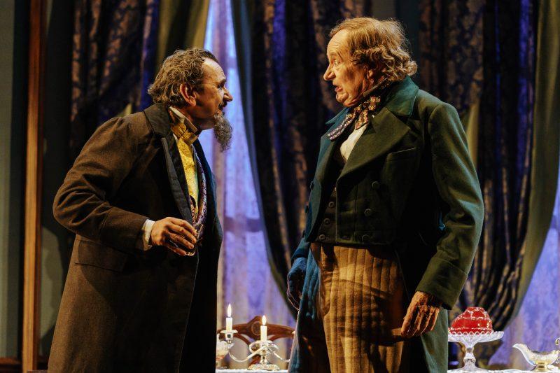 l r Phil Daniels Dickens and Jim Broadbent Hans photo Manuel Harlan