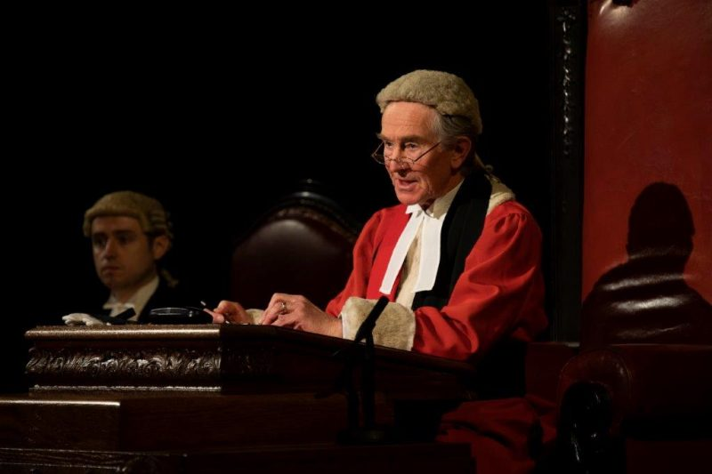 Christopher Ravenscroft as Mr Justice Wainwright in Witness for the Prosecution Credit Ellie Kurttz