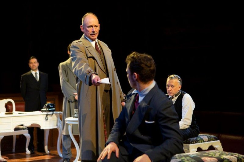 Simon Roberts as Inspector Hearne and the new cast of Witness for the Prosecution Credit Ellie Kurttz