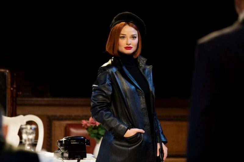 Emma Rigby as Romaine Vole in Witness for the Prosecution at Londons County Hall Credit Ellie Kurttz