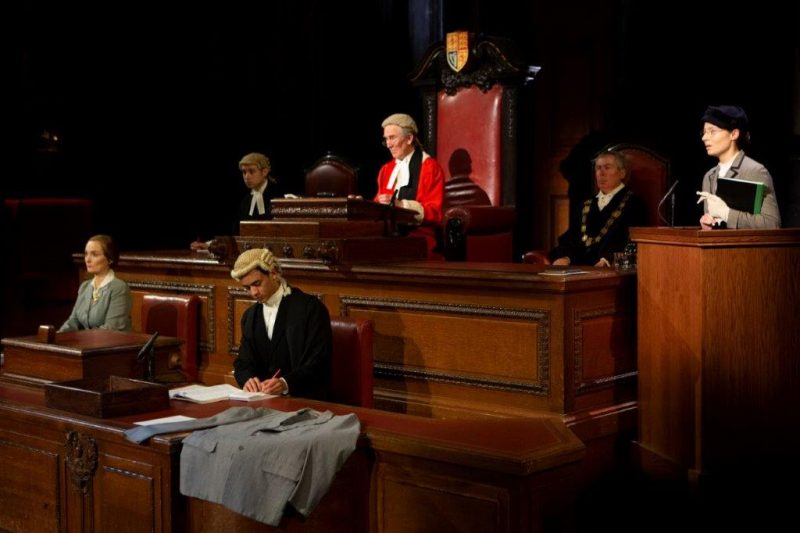 The new cast in Witness for the Prosecution at Londons County Hall Credit Ellie Kurttz