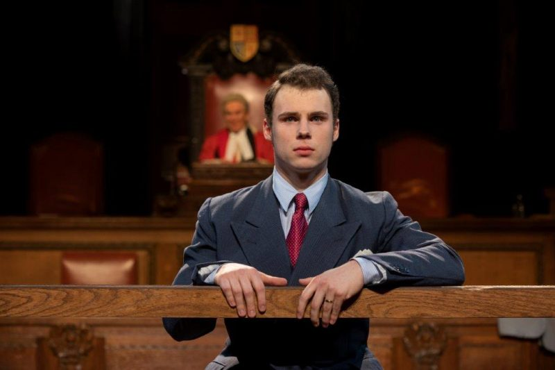 Daniel Solbe as Leonard Vole in Witness for the Prosecution at Londons County Hall Credit Ellie Kurttz