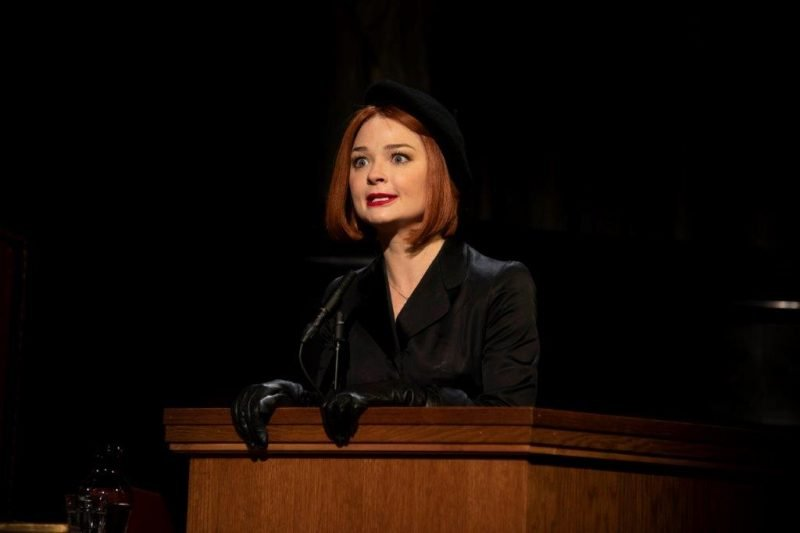 Emma Rigby as Romaine Vole in Witness for the Prosecution Credit Ellie Kurttz