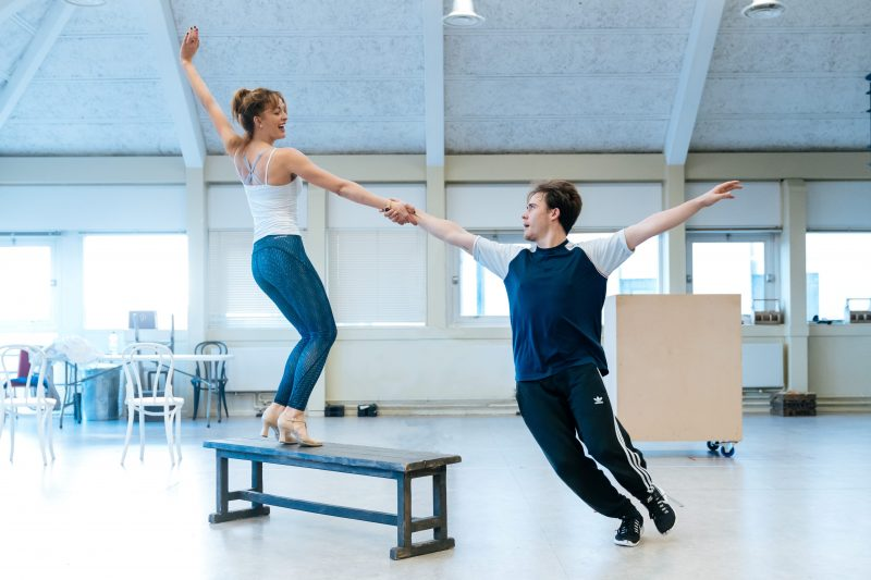 Amy Ellen Richardson and Ross McLaren in rehearsals. Photo by Manuel Harlan. Copy