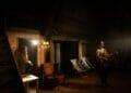Chasing Bono Soho Theatre LtoR Farzana Dua Elahe Gloria Naill McNamee Neil. Photography by Helen Maybanks