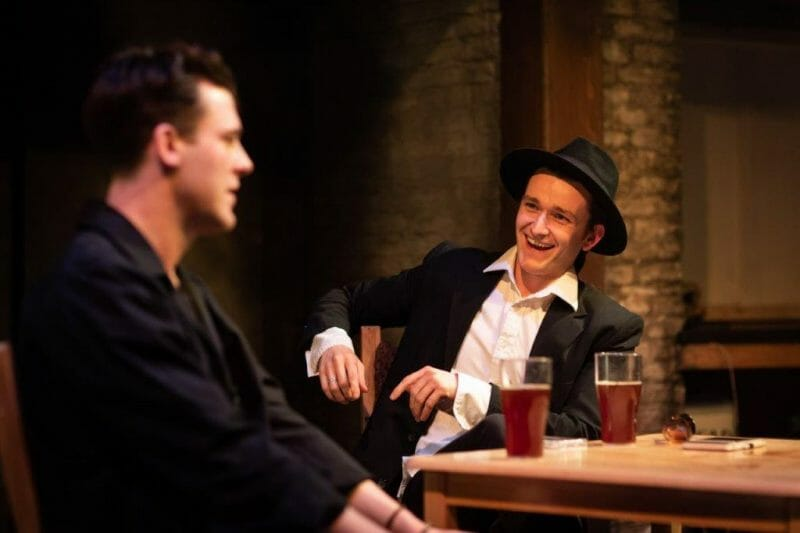 Chasing Bono Soho Theatre LtoR Niall McNamee Neil Shane ORegan Bono. Photography by Helen Maybanks