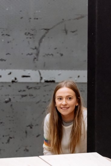 Imogen Doel in rehearsals for The Tell Tale Heart. Image Manuel Harlan