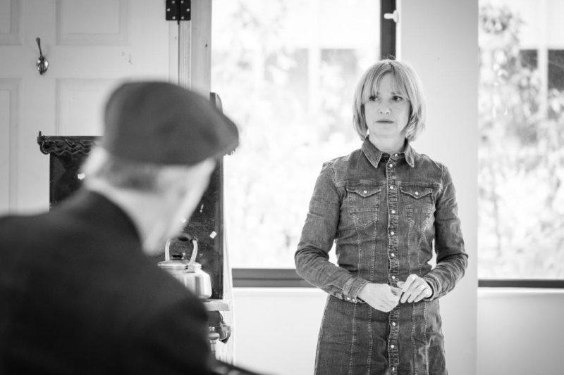 Jane Horrocks in rehearsal for Pinter Five. Photo Marc Brenner REH