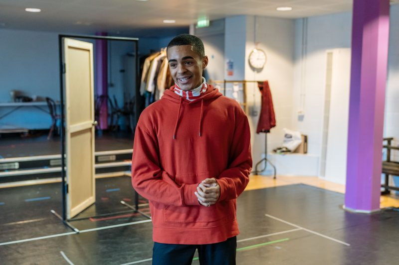 Layton Williams in rehearsals. Photo by Manuel Harlan.