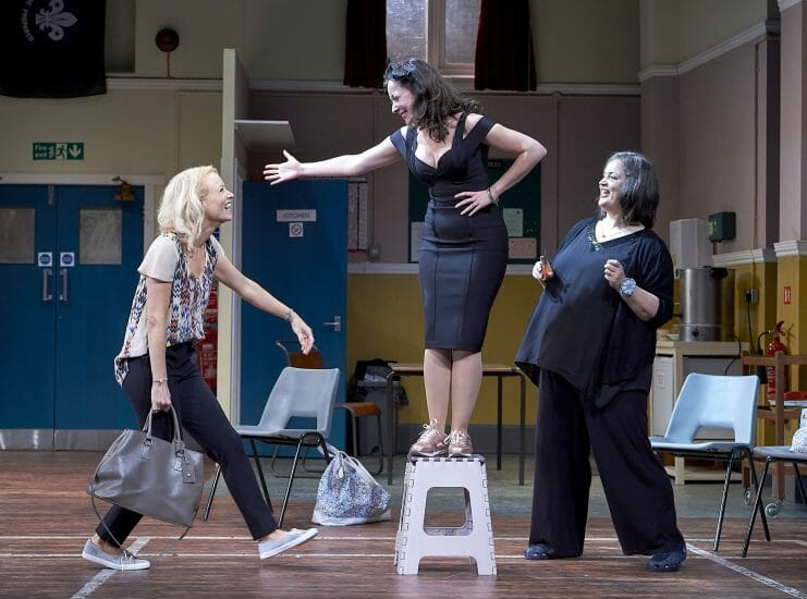 Mary Stockley Sarah Earnshaw and Ruth Jones in The Nightingales UK Tour. Credit Geraint Lewis