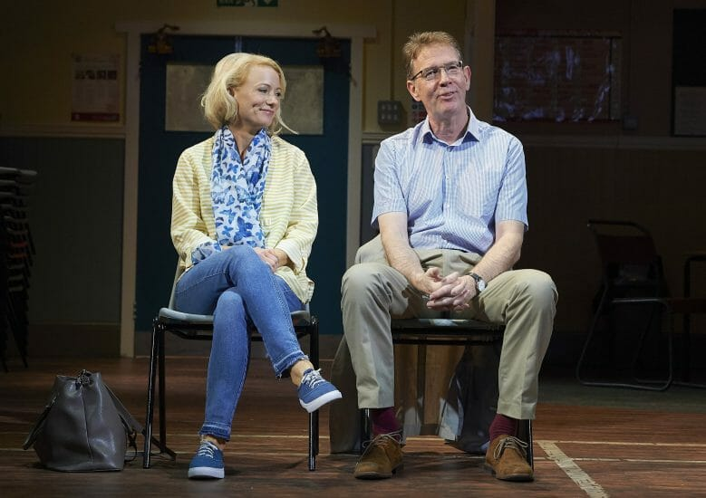 Mary Stockley and Steven Pacey in The Nightingales UK Tour. Credit Geraint Lewis