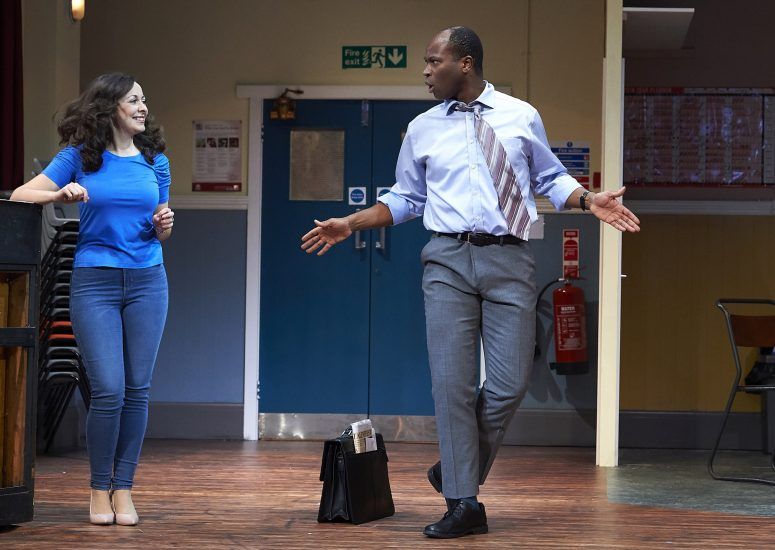 Sarah Earnshaw and Stefan Adegbola in The Nightingales UK Tour. Credit Geraint Lewis
