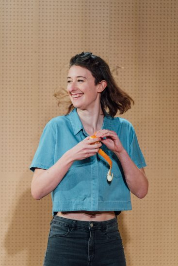 Sophie Steer in Lands at the Bush Theatre. Photo Helen Murray ush Lands Production HelenMurray
