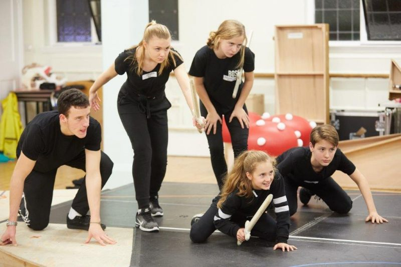 Young Cast Hansel and Gretel at the Rose Theatre Kingston CREDIT Mark Douet
