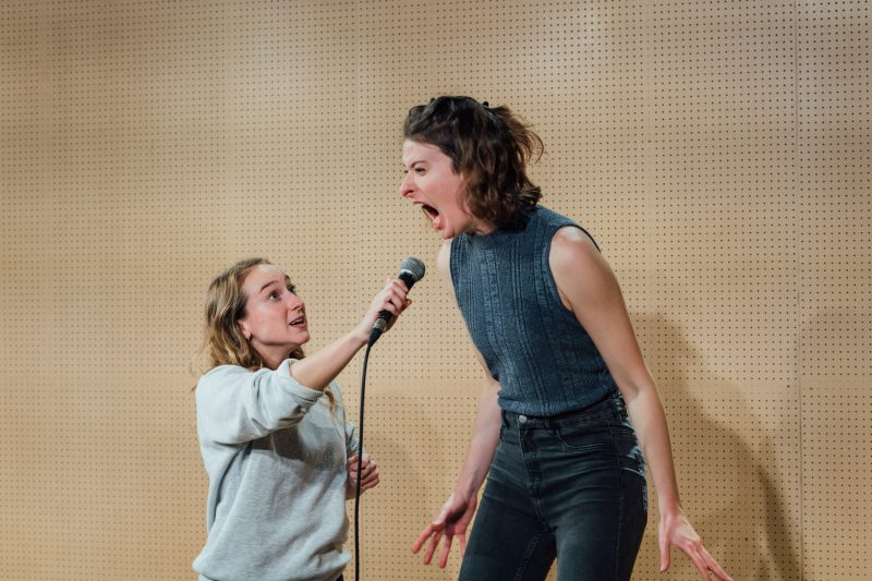 l r Leah Brotherhead and Sophie Steer in Lands at the Bush Theatre. Photo Helen Murray Bush Lands Production HelenMurray