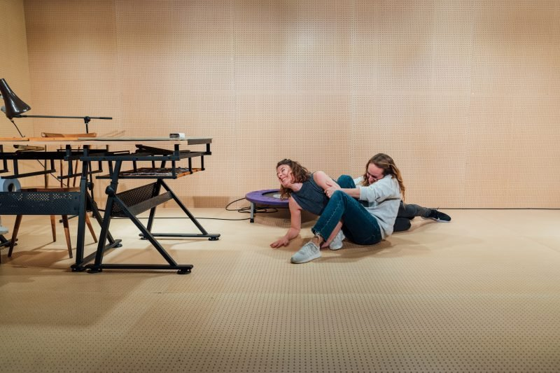 l r Sophie Steer and Leah Brotherhead in Lands at the Bush Theatre. Bush Lands Production HelenMurray