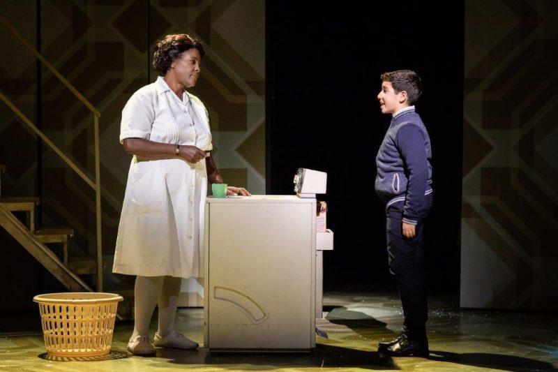 Sharon D. Clarke and in Aaron Gelkoff in Caroline Or Change Playhouse Theatre Credit Helen Maybanks