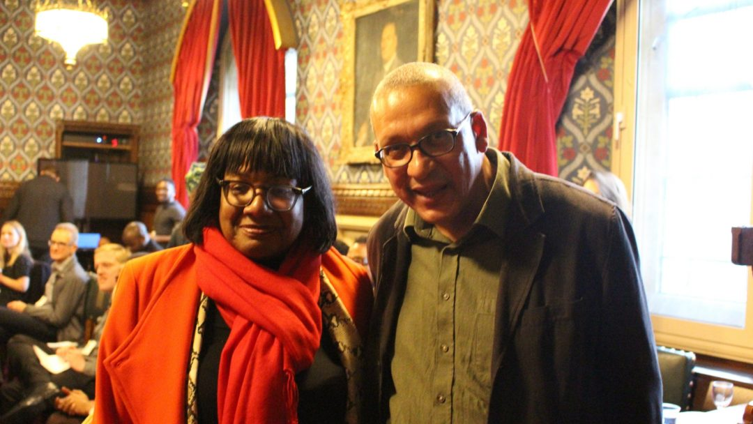 Diane Abbott and Gabriel Gbadamosi writer credit Ankesh Shah