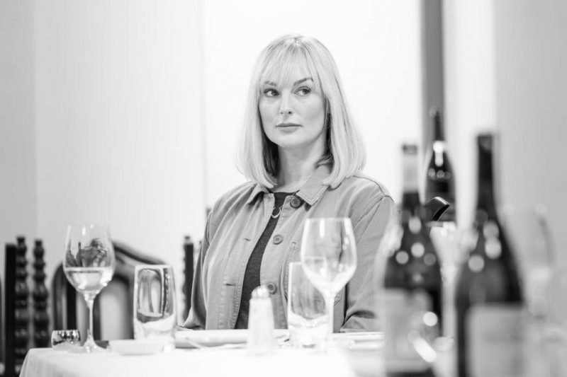 Katherine Kingsley in rehearsals for Pinter . Photo Marc Brenner. REH
