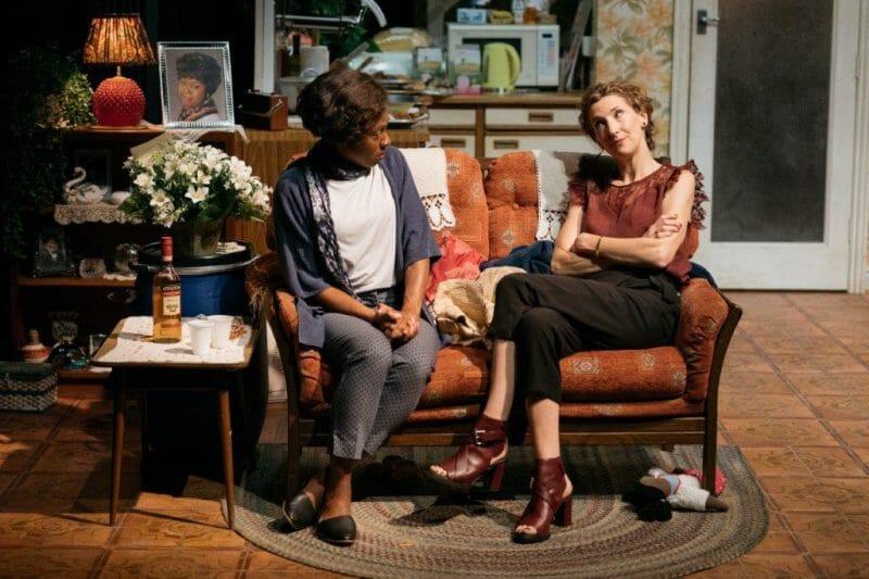 Natasha Gordon and Hattie Ladbury in Nine Night c Helen Murray