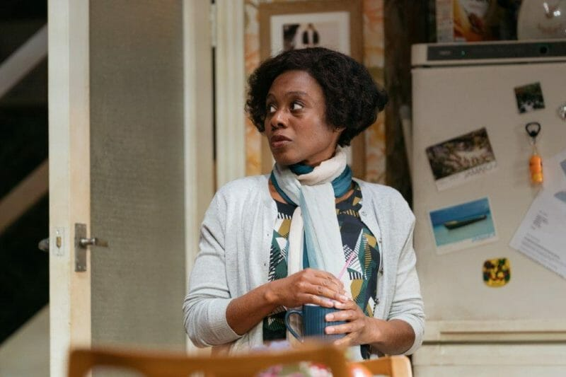 Natasha Gordon as Lorraine in Nine Night c Helen Murray