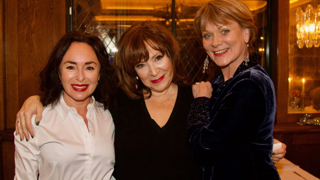Samantha Spiro Harriet Thorpe Samantha Bond. Credit Mark Lomas