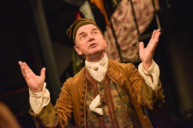 Simon Chandler Sir Paul Plyant in THE DOUBLE DEALER by William Congreve Orange Tree Theatre photo by Robert Day