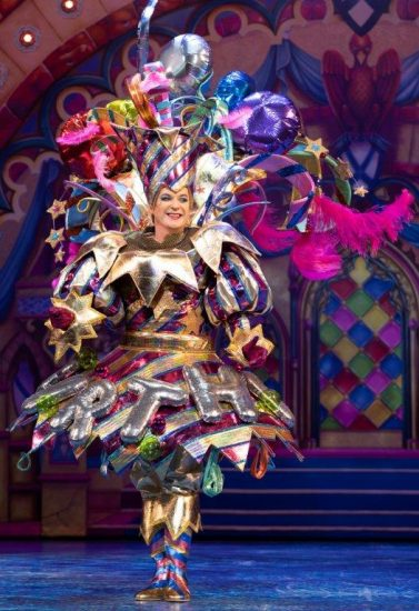 Snow White at The London Palladium Julian Clary as The Man in the Mirror Photo Paul Coltas