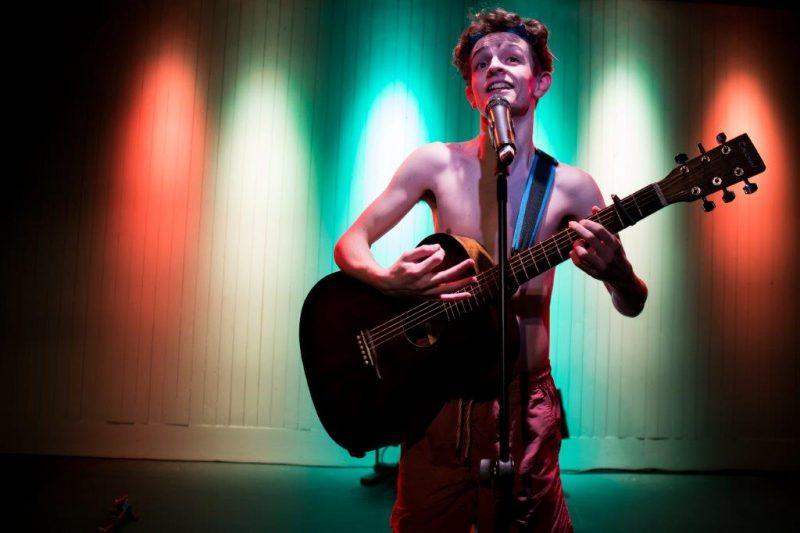 Tom Finnigan in Drip at Bush Theatre. Photo credit Sam Taylor