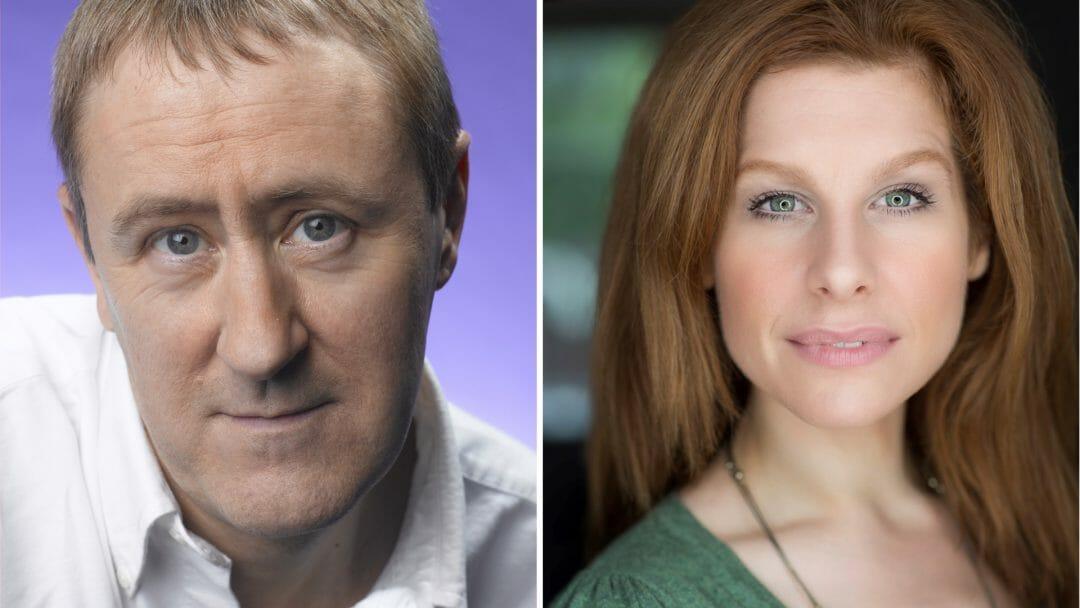 Nicholas Lyndhurst and Cassidy Janson