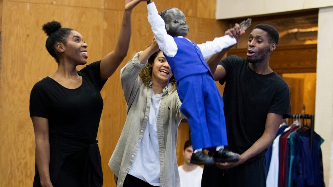 Cast in The Winters Tale rehearsals at the National Theatre c Ellie Kurtzz