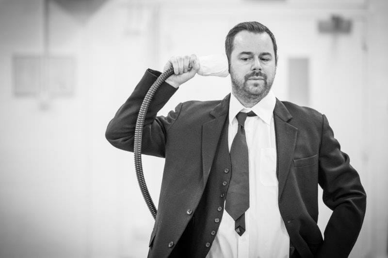 Danny Dyer in rehearsal for Pinter Seven Image by Marc Brenner