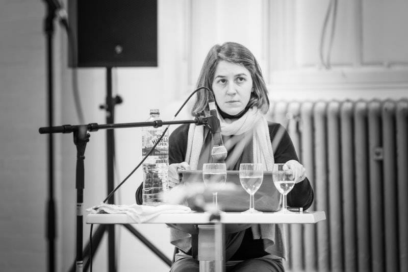 Gemma Whelan in rehearsal for Pinter Seven Image by Marc Brenner