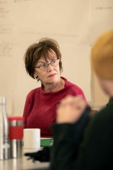 Marian McLoughlin in rehearsals for Rutherford and Son. The Other Richard. min