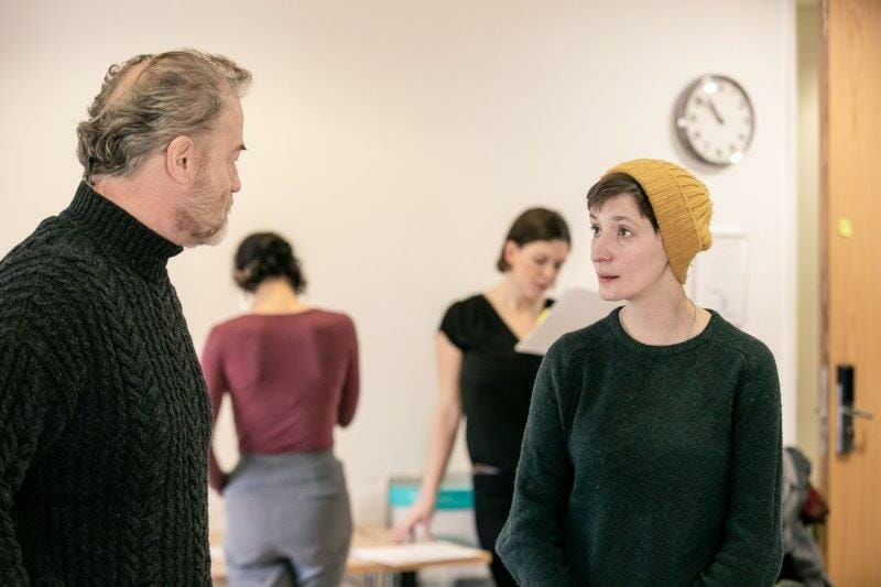 Owen Teale and Laura Elphinstone in rehearsals for Rutherford and Son. The Other Richard. min