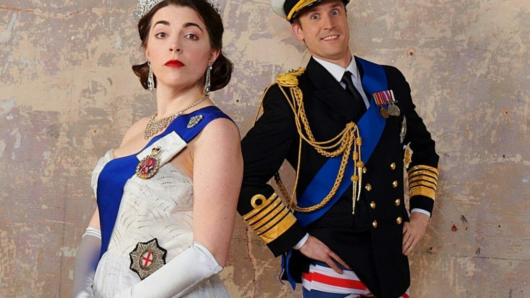 Rosie Holt and Brendan Murphy The Crown Dual Photo Geraint Lewis