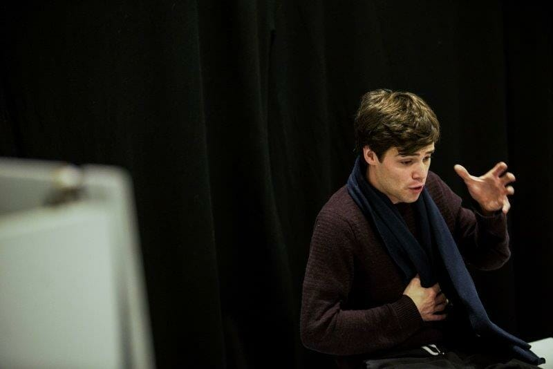 Theo Ancient in rehearsals for THE SHY MANIFESTO credit Luke Newbold