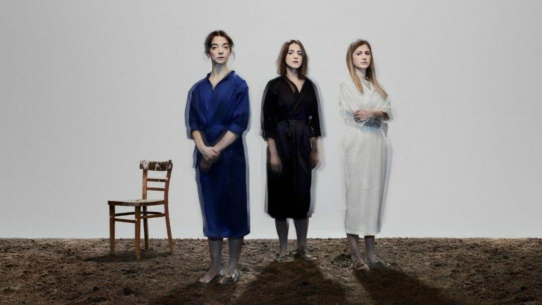 Three Sisters. Patsy Ferran Pearl Chanda and Ria Zmitrowicz. Photo Nadav Kander