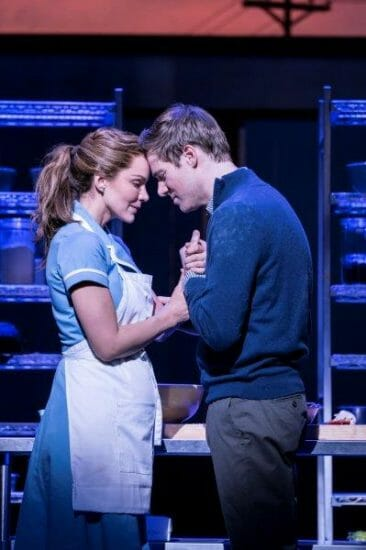 . Waitress Adelphi Theatre Katharine McPhee Jenna and David Hunter Dr Pomatter Photographer Johan Persson