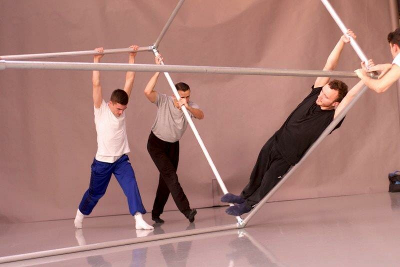 BalletBoyz in rehearsal for Them at Sadlers Wells. Credit George Piper