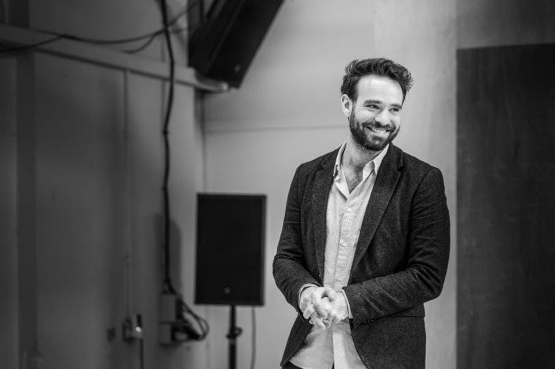 Charlie Cox in rehearsal Photo credit Marc Brenner.