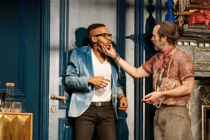 Enyi Okoronkwo Denis OHare in Tartuffe by Molière in a new version by John Donnelly. Image by Manuel Harlan
