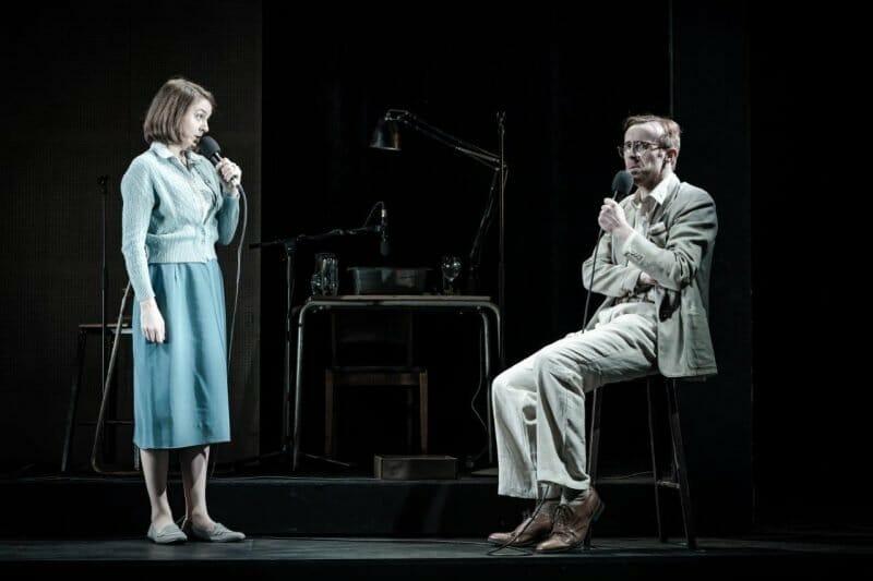Gemma Whelan and John Heffernan in Pinter Seven. Photo credit Marc Brenner