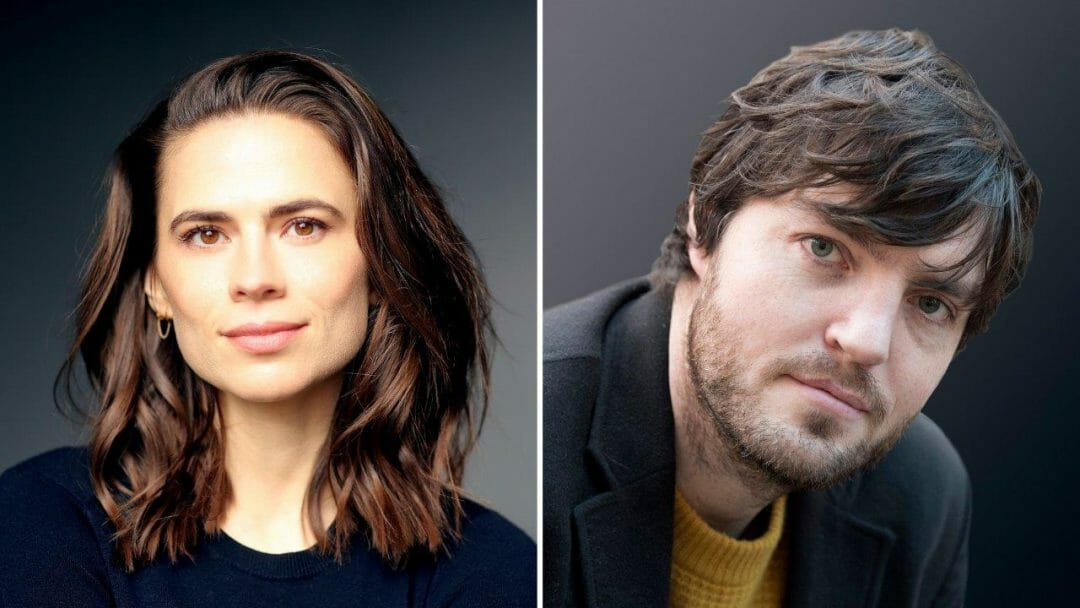 Hayley Atwell by Faye Thomas and Tom Burke by Alastair Muir Rosmersholm Duke of Yorks Theatre