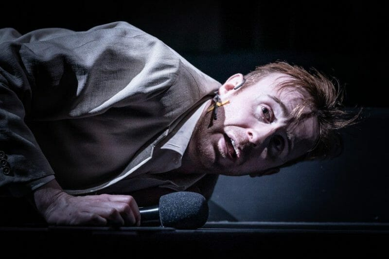 John Heffernan in Pinter Seven. Photo credit Marc Brenner