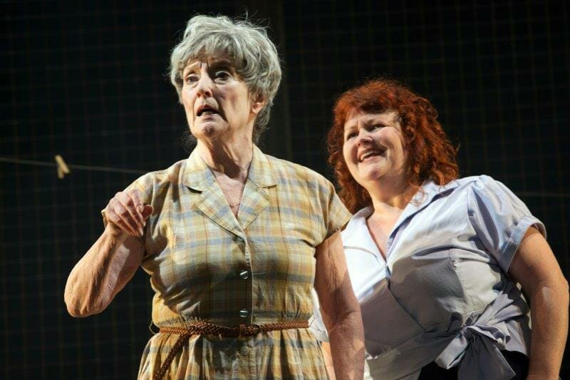Judith Paris as Doris Lisa Burrows as Margaret Copyright Sheila Burnett
