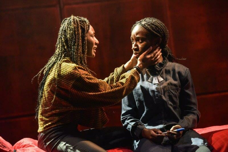 Kimisha Lewis as Minerva and Heather Agyepong as Sephy Noughts and Crosses Photo by Robert Day ASC