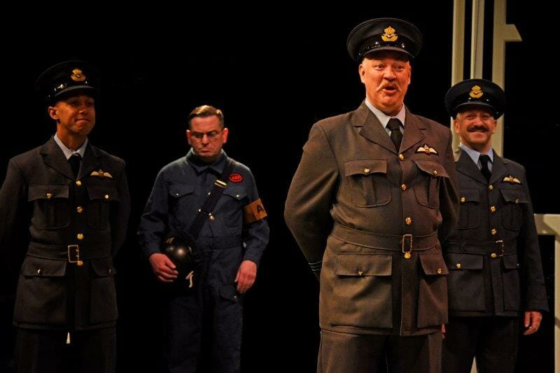 Matt Rixon as Don Pedro and the cast of Much Ado About Nothing Much Ado About Nothing Photo by Nobby Clark