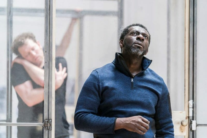 Matthew Douglas and Oberon K.A Adj in rehearsal for Jesus Hopped the A Train c Johan Persson